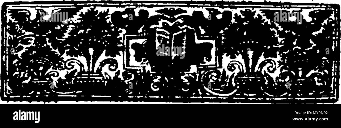 . English: Fleuron from book: An explication of the church-catechism, By Way of Question and Answer. Divided into eight sections. By Thomas Bate, B. D. late Rector of Swarkston in Derbyshire, and sometime Fellow of Jesus College, Cambridge. 332 An explication of the church-catechism, By Way of Question and Answer Fleuron T192369-2 - Stock Image
