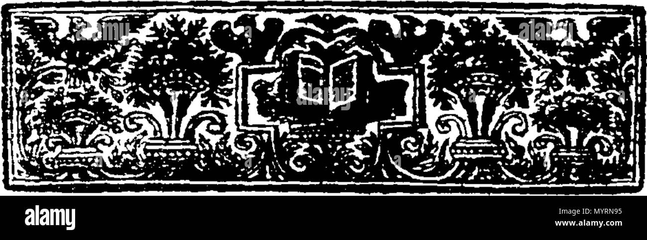 . English: Fleuron from book: An explication of the church-catechism, By Way of Question and Answer. Divided into eight sections. By Thomas Bate, B. D. late Rector of Swarkston in Derbyshire, and sometime Fellow of Jesus College, Cambridge. 332 An explication of the church-catechism, By Way of Question and Answer Fleuron T192369-5 - Stock Image