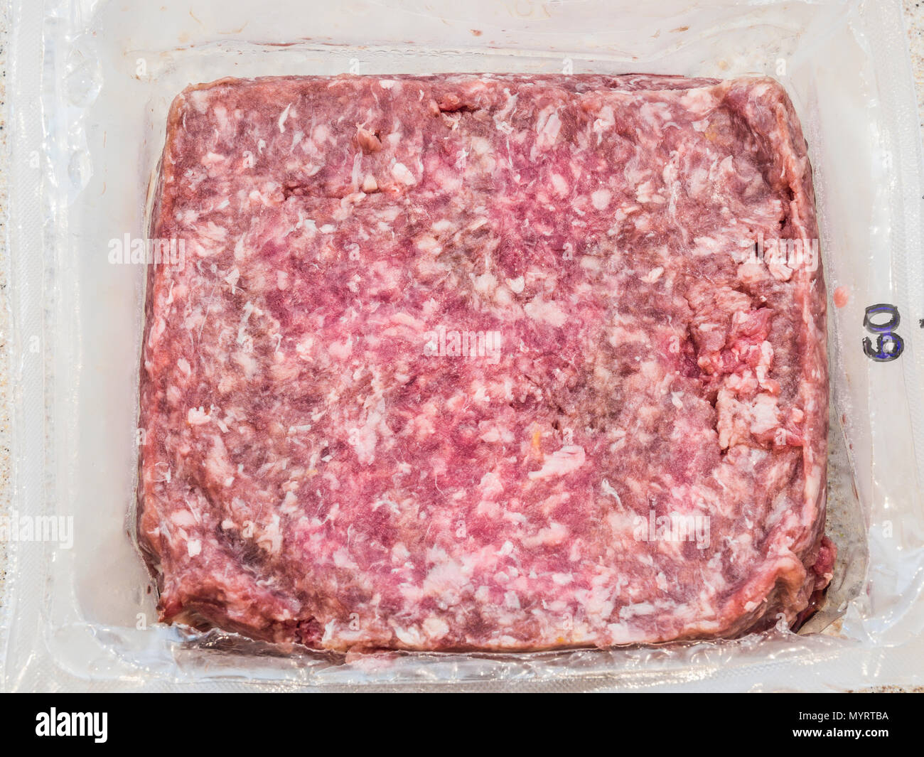 prepared meals dream dinners meatloaf milano with oven roasted broccoli jeatloaf Stock Photo