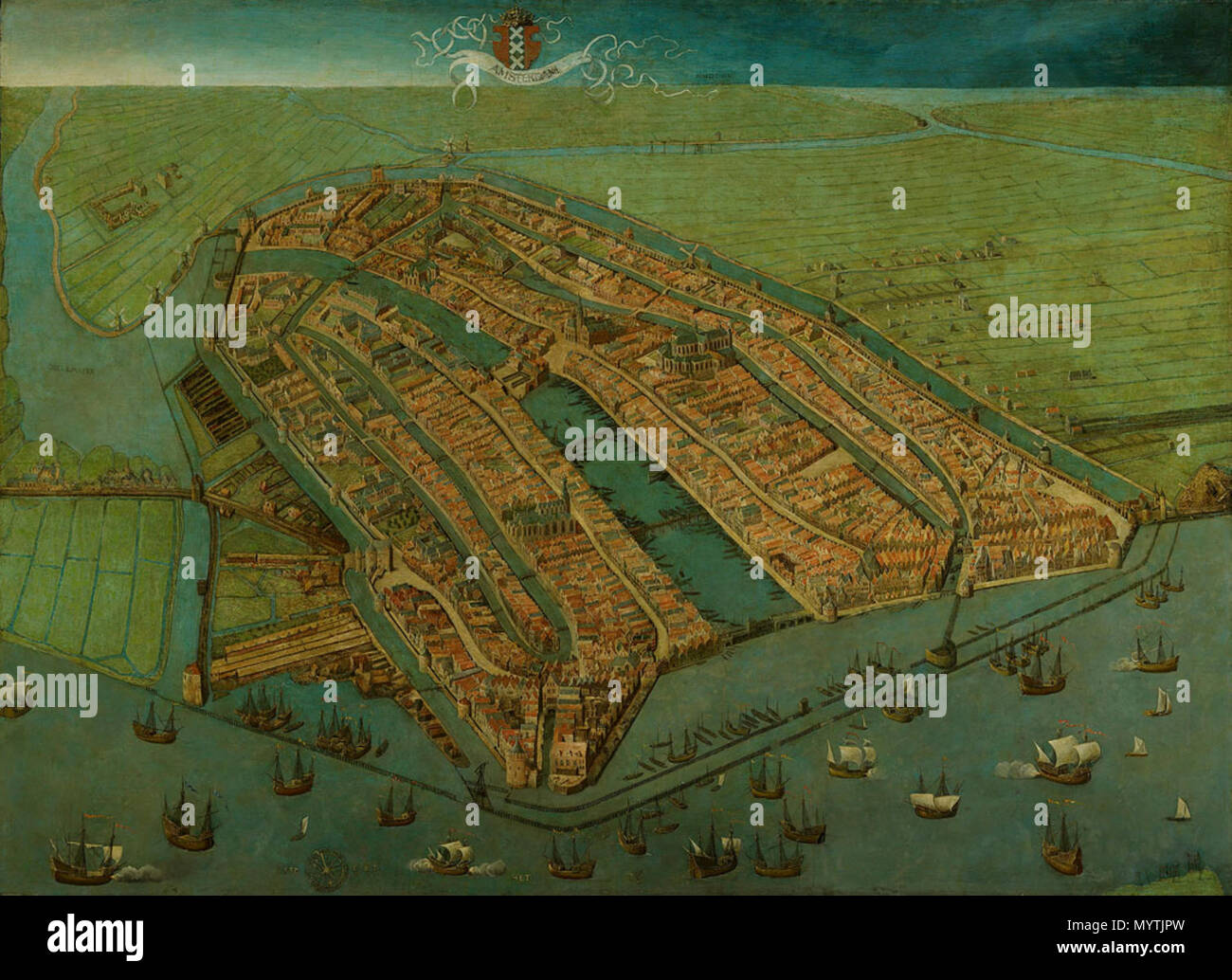 Oldest Surviving Map Of Amsterdam Showing The Citys Finished - Amsterdam old map