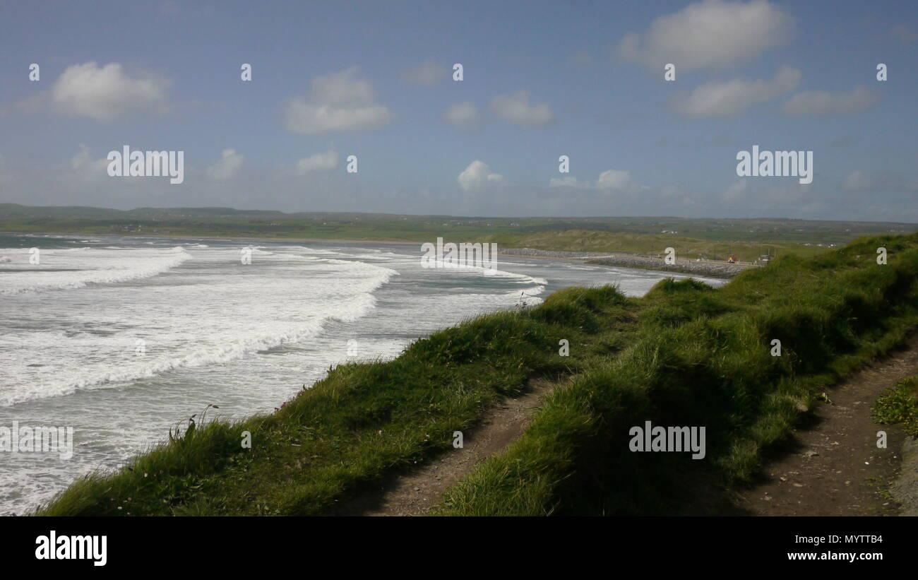 Coastal town on the west coast of Ireland. - Stock Image