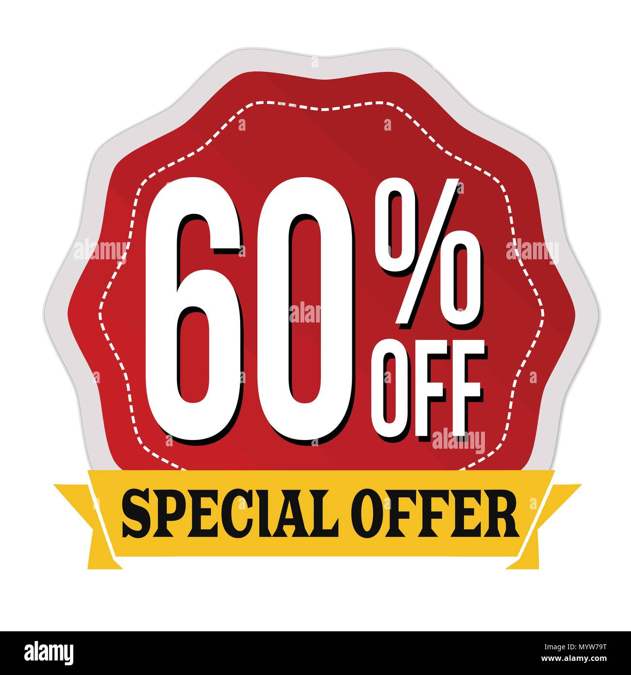0d556a4d3 Special offer 60% off label or sticker on white background