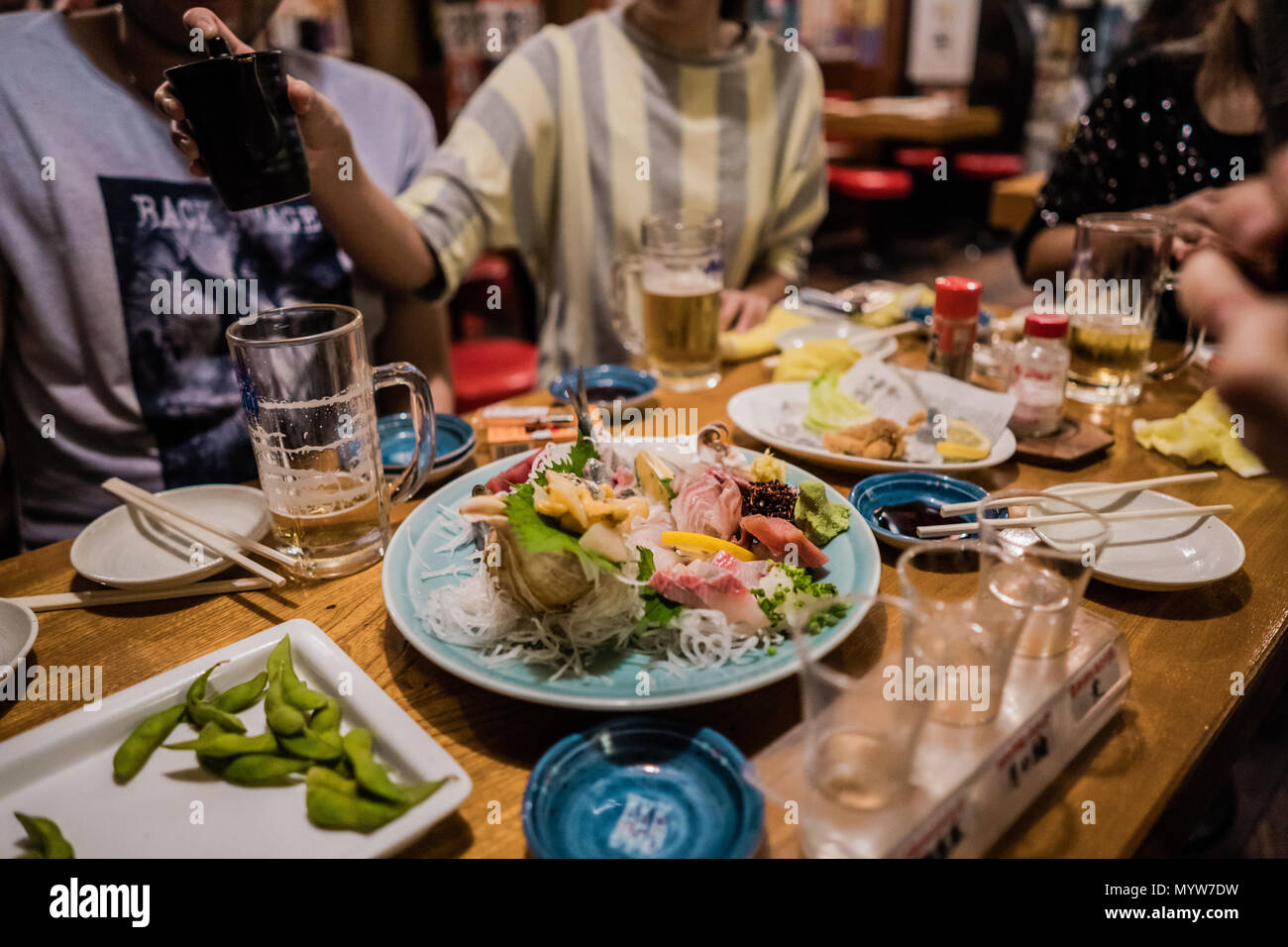 Sashimi in Japan - Stock Image