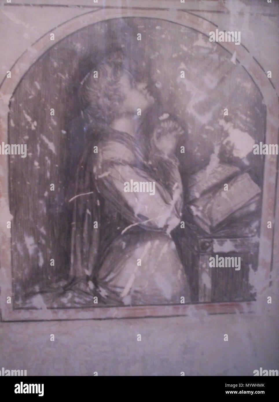 . Artwork found under whitewash in James Walsh`s cell Fremantle Prison  . circa 1859 to 1871. James Walsh 1 FremantlePrisonWalsh1 - Stock Image