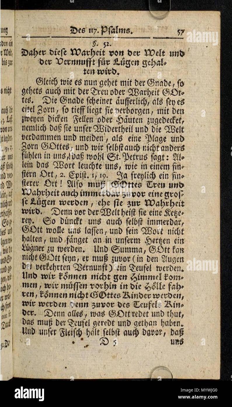 . Polski: Martin Luther, Psalms 117 Commentary (1728)  . 1728. Martin Luther 69 Martin Luther, Psalms 117 Commentary (1728) Stock Photo