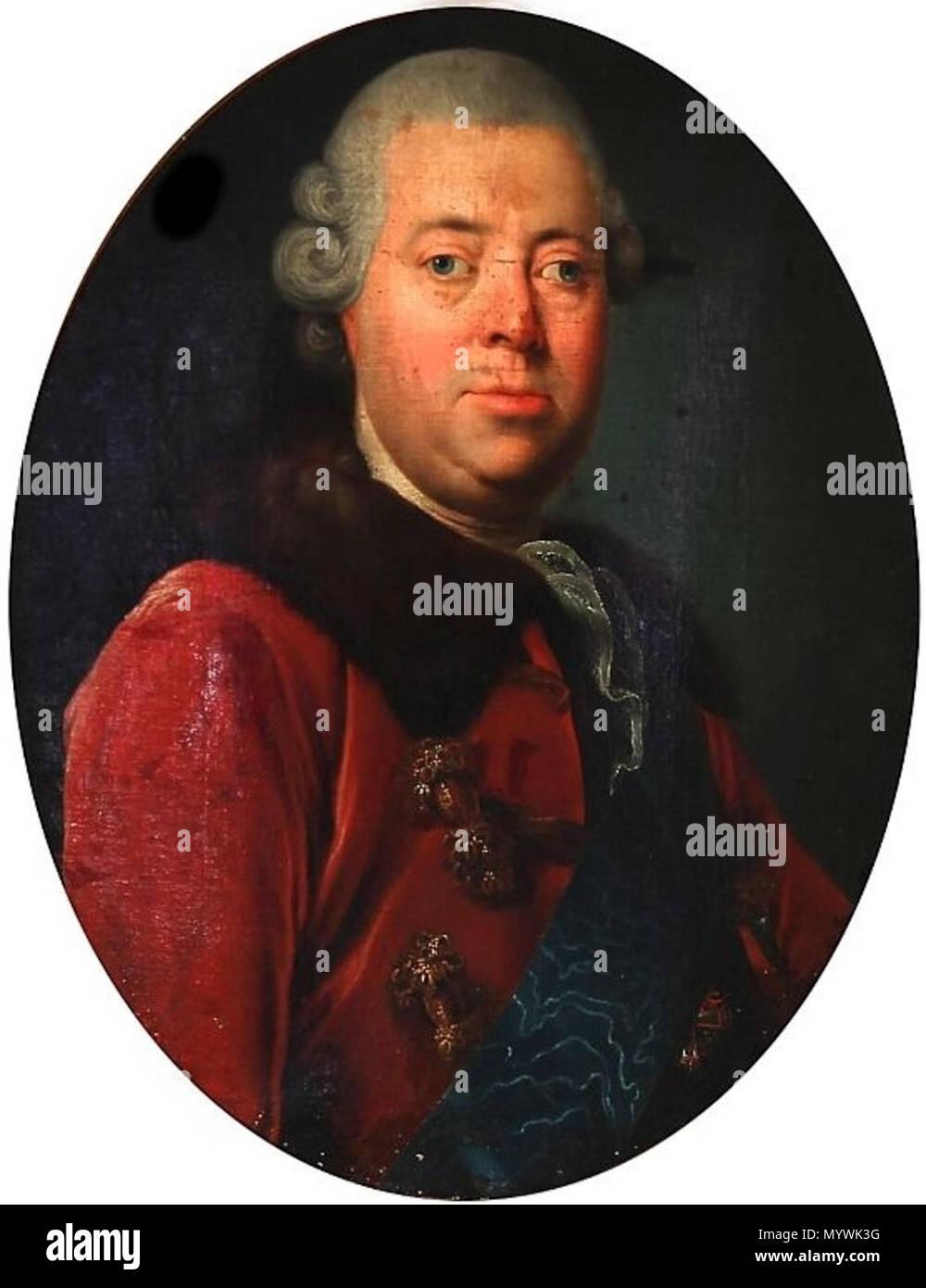 .  English: Frederik Christian Rosenkrantz (1724-1802) of Rosenholm, Danish Privy Councillor etc.  . 1769 36 Frederik Christian Rosenkrantz, til Rosenholm - Stock Image