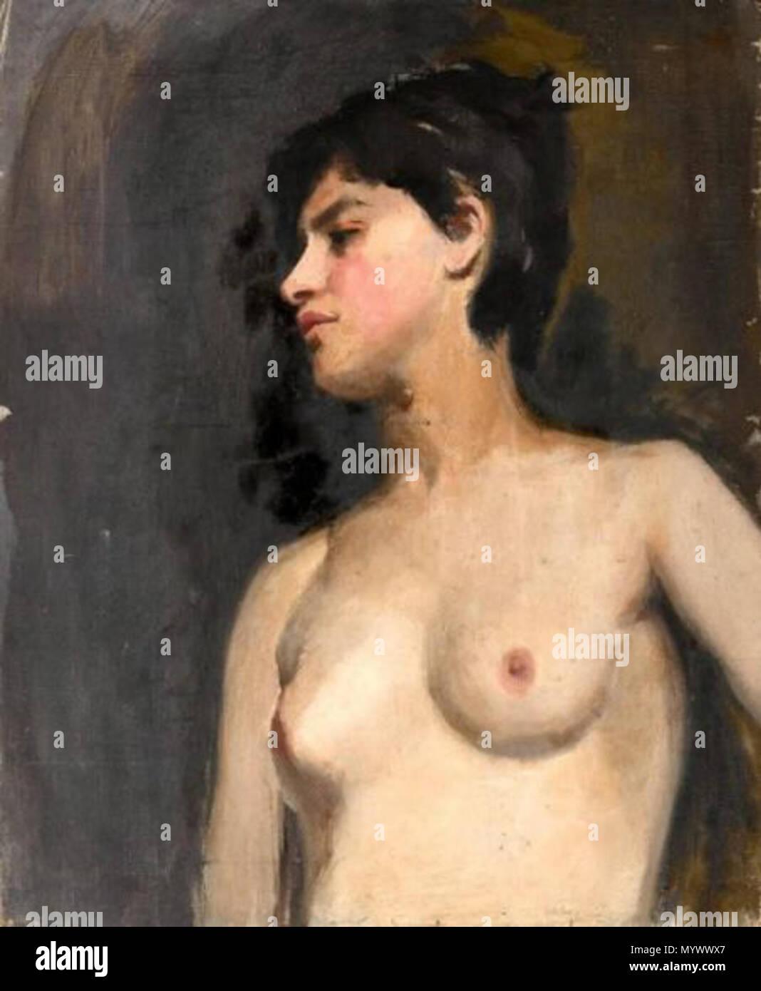 Anais Nue français : buste de femme nue vers 1882 par albert de