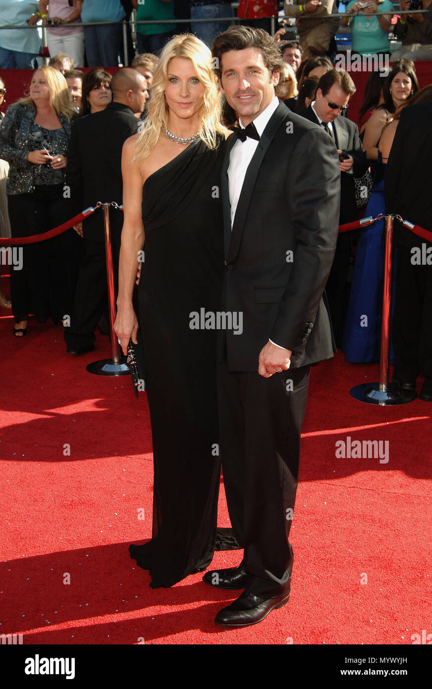 Patrick Dempsey And Wife 60th Annual Emmys Awards At The Nokia