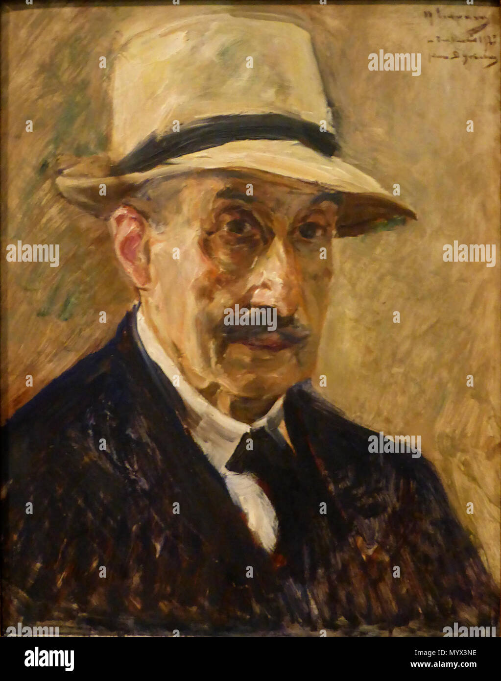 70 Max Liebermann, Selbstporträt, 1929 - Stock Image