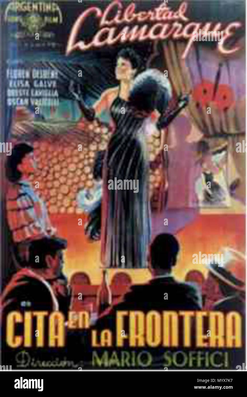 English Poster For The Film Cita En La Frontera 1940 Directed By Mario Soffici 1940 Argentina Sono Film 1 Cita En La Frontera Stock Photo Alamy