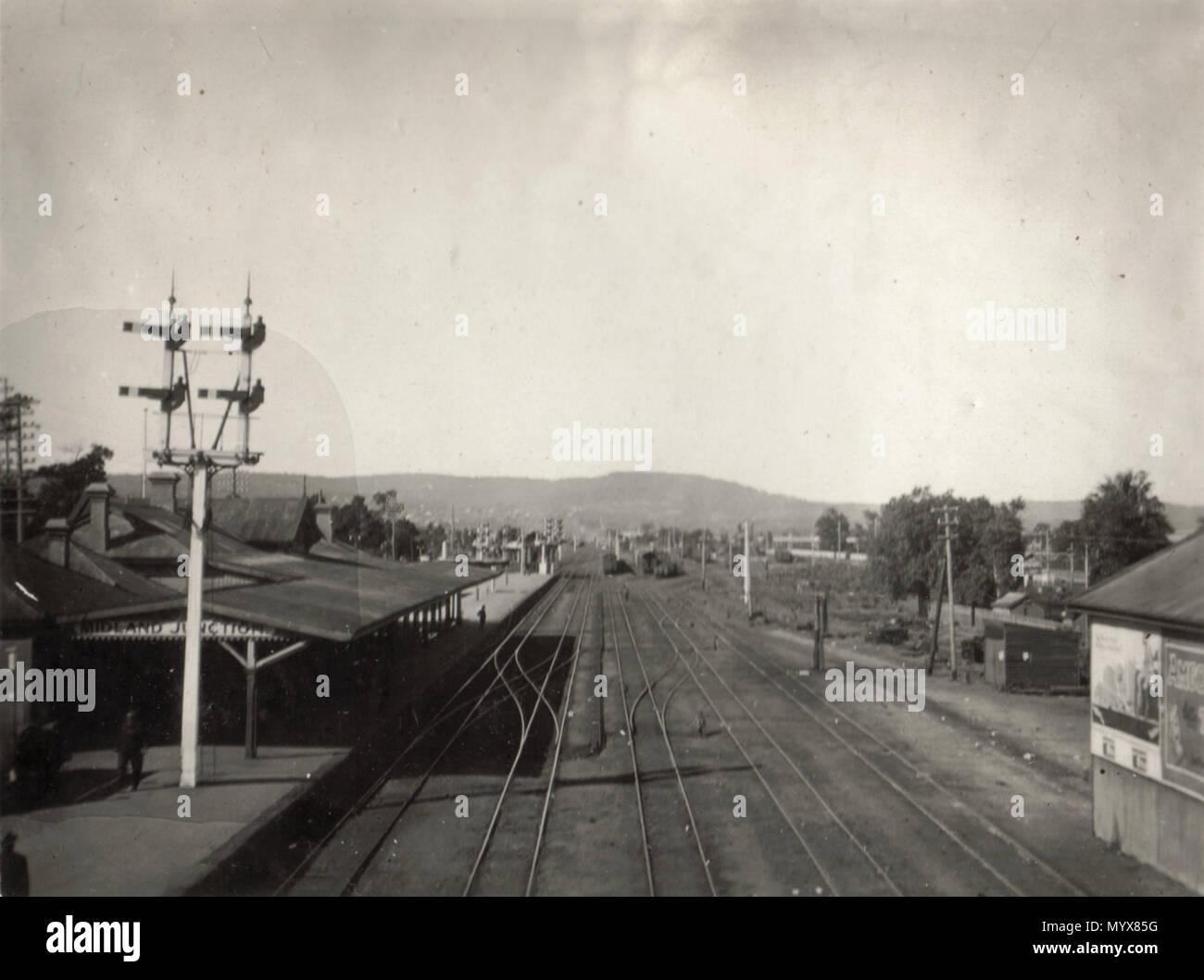 . English: Midland Junction Railway Station, Western Australia, May 1927.  . May 1927. William E. Fretwell (1874 - 1958) 2 MidlandJunctionStation WEFretwellCollection - Stock Image