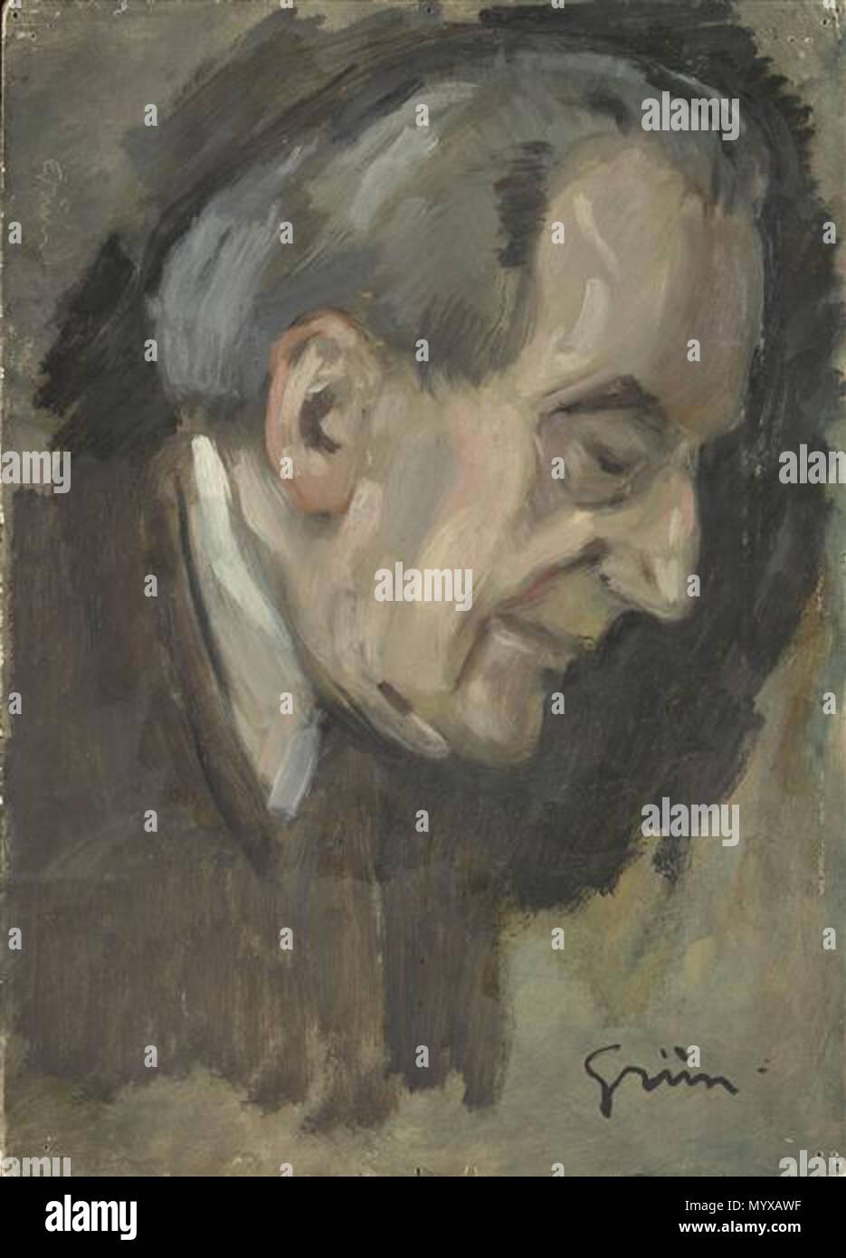 . Portrait of Jean Louis Forrain (1852-1931), French painter . by 1934 5 Jean-Louis Forain - Stock Image