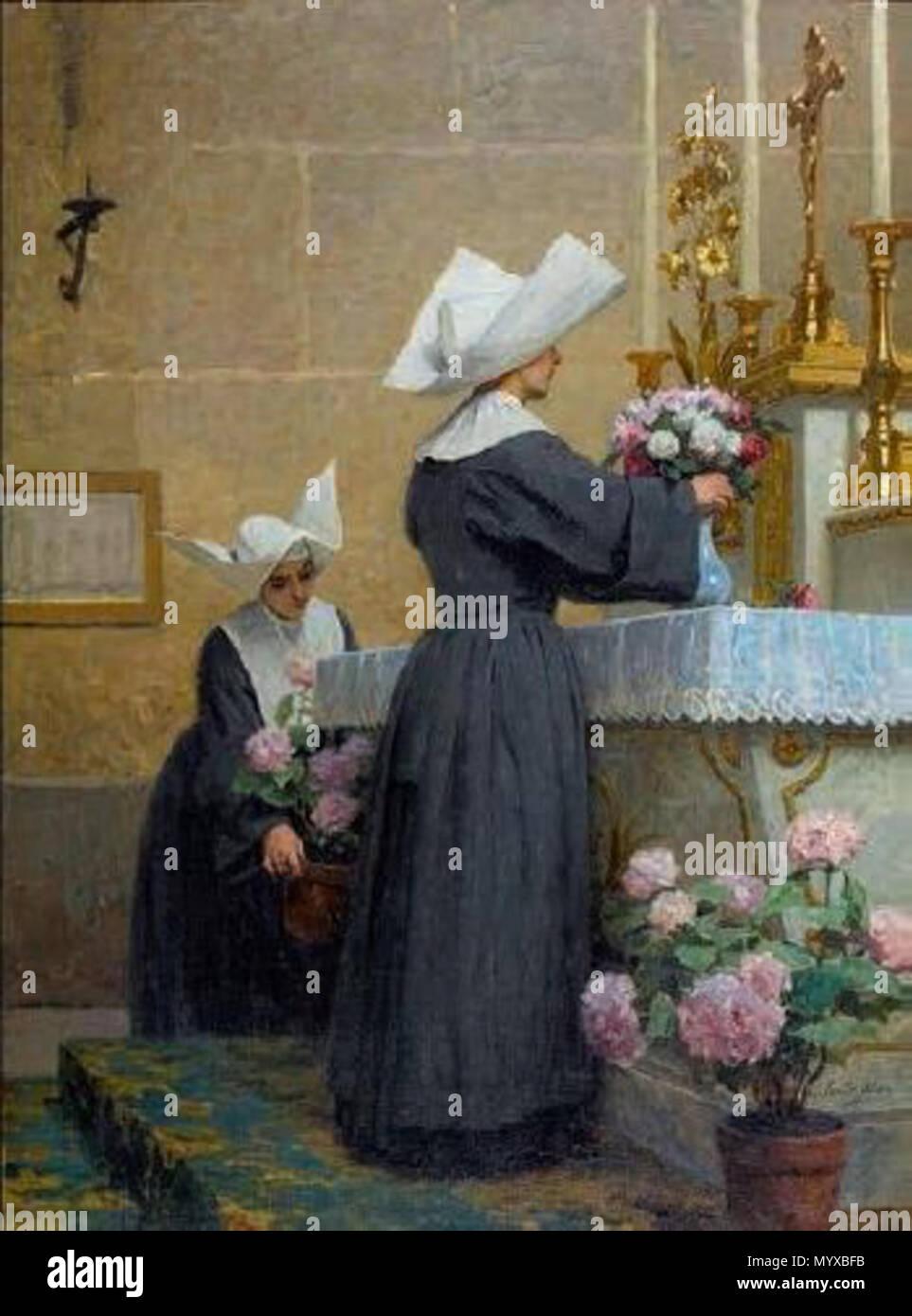 . Français: Émile Adan (1839-1937), En son honneur, huile sur toile.  . before 1900. Louis Émile Adan 7 Adan En son honneur - Stock Image