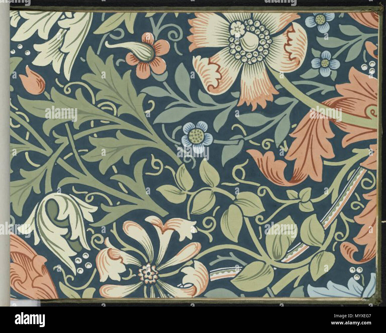 Wallpaper Sample Book 1 Page 127 Compton Pattern 323 Between 1915 And 1917 18 Brooklyn Museum