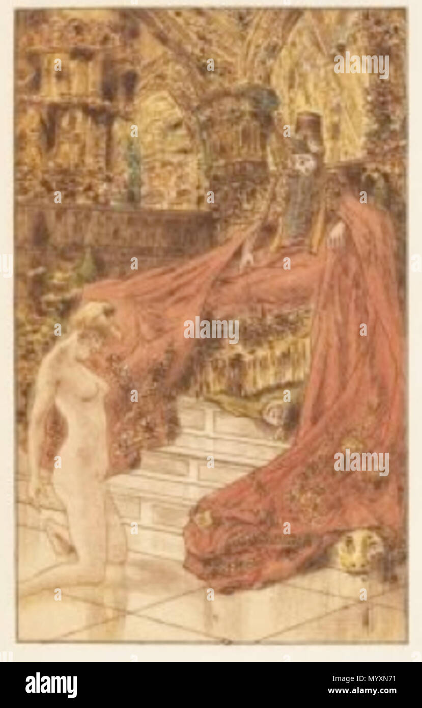 . English: One of the etchings from En Rade by Joris-Karl Huysmans, published in Paris, Auguste Blaizot, 1911. Dim.: 30,7 x 25 42 Guignebault En Rade Stock Photo