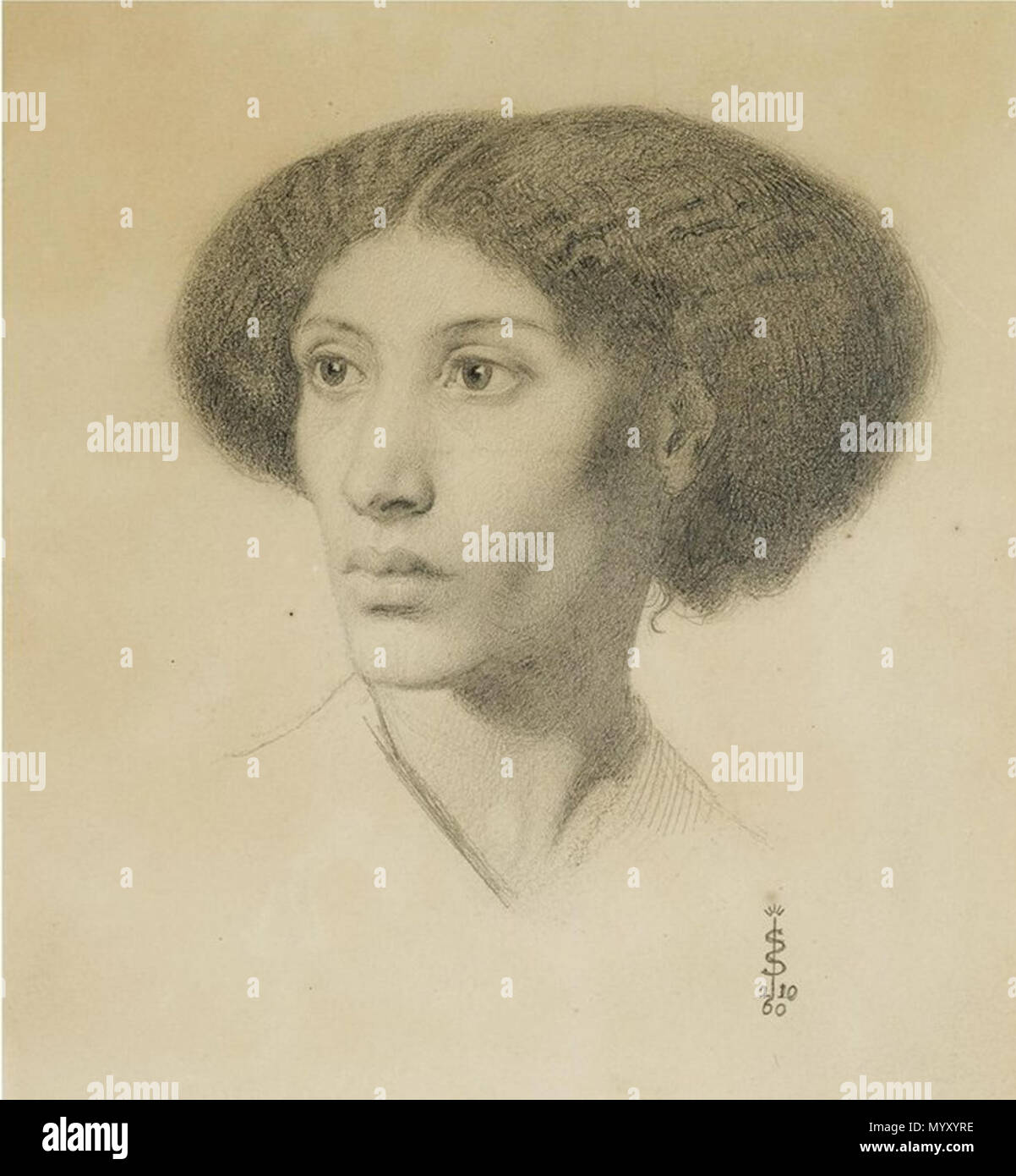English: Fanny Eaton by Simeon Solomon   1 January 1860  Simeon