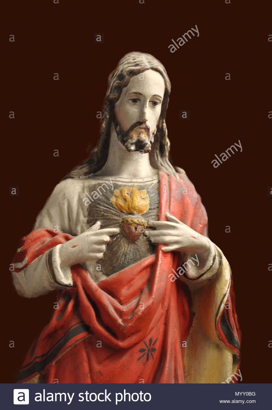 christ saint figure - Stock Image