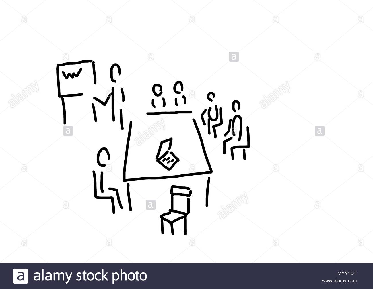 meeting with presentation profession powerpoint stock photo