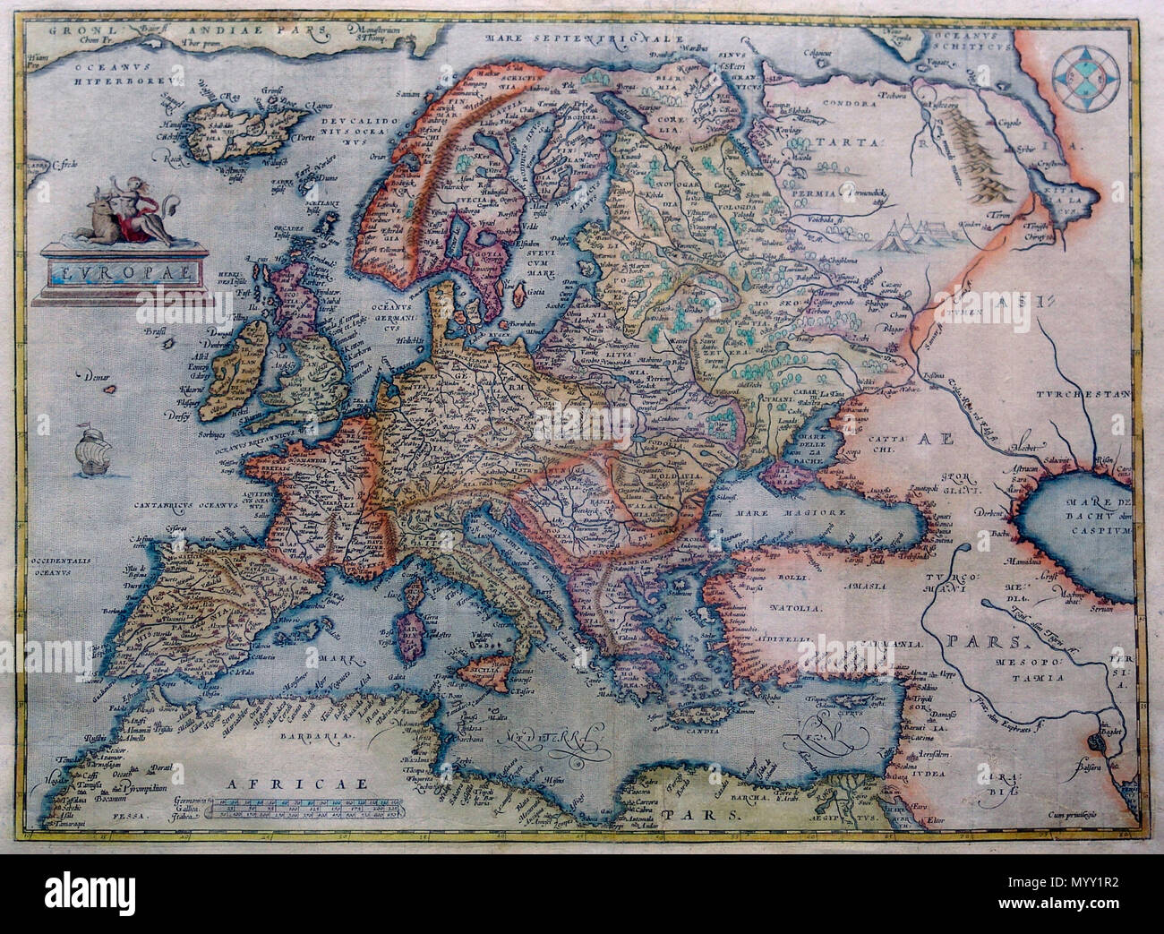 Alternative Map Of Europe.Map Of Europe From 1570 Until 1609 Abraham Ortelius 1527 1598