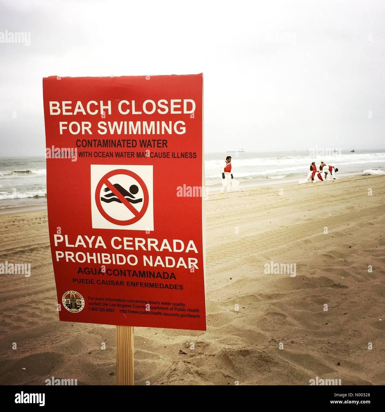 Manhattan Beach, California, USA  28th May, 2015  A closed