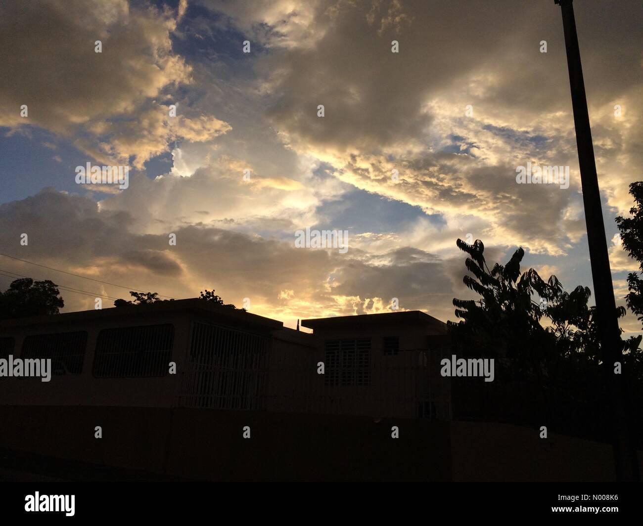 Cll F Martinez De Matos, Mayagüez,, Puerto Rico. 14th Sep, 2016. Incredible sunset Credit:  Juan Carlos Torres/StockimoNews/Alamy - Stock Image