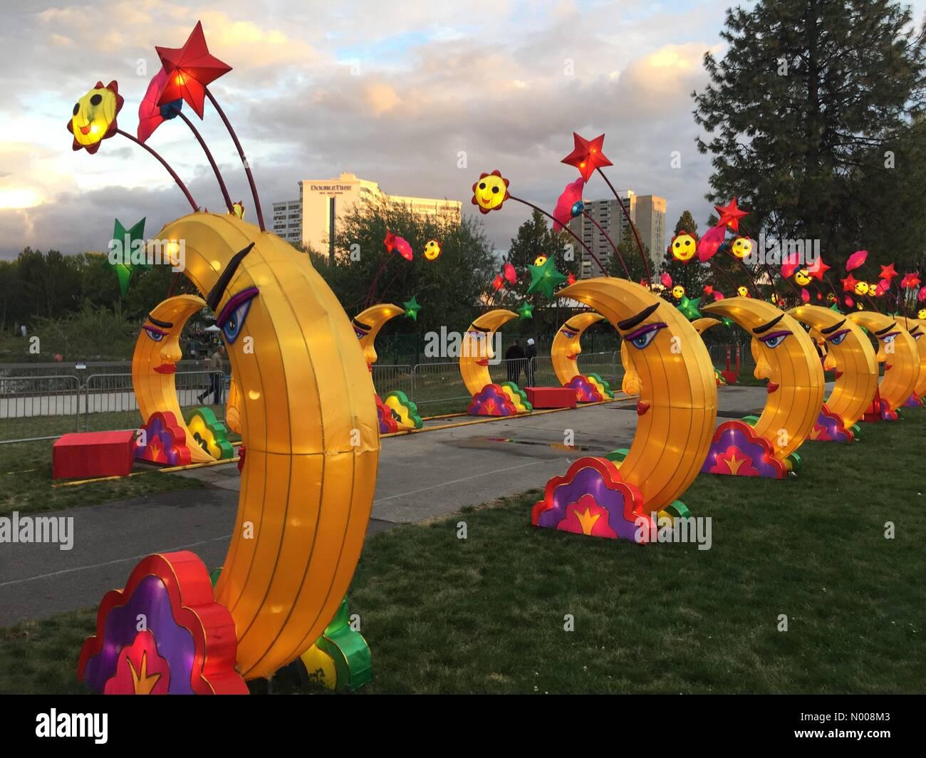 Spokane, Washington, USA. 17th Sep, 2016. Washington State Chinese Lantern Festival in Spokane Credit:  Katya Palladina/StockimoNews/Alamy Stock Photo
