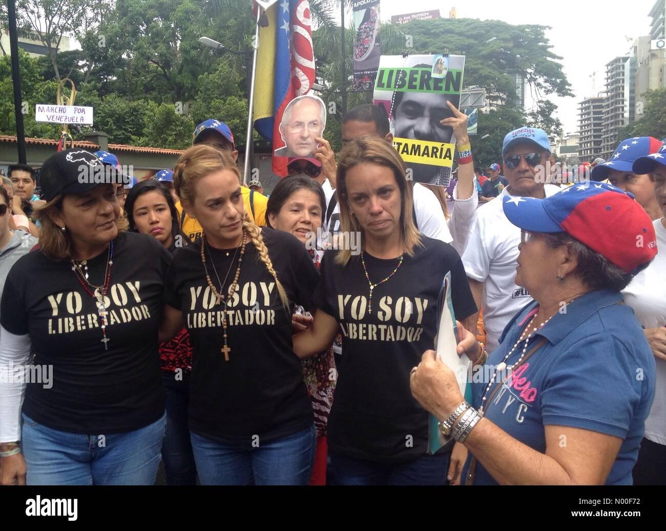 Caracas, Distrito Capital, Venezuela. 17th June, 2017. Lilian Tintori wife of Venezuelan opposition leader Leopoldo - Stock Image