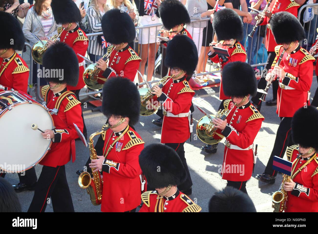 Windsor, UK, 19th May 2018. The town of Windsor celebrates the Royal Wedding between Prince Harry and Meghan Markle. Credit: Ollie Cole/StockimoNews/Alamy Live News Stock Photo