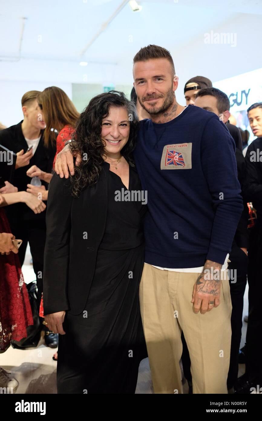London Uk 11th June 2018 David Beckham At The London Fashion Week