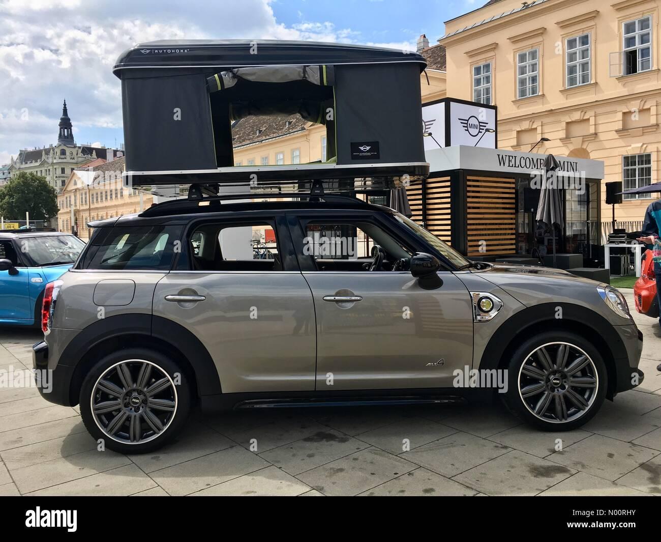 Vienna Austria 26th Jun 2018 Mini Suv Phev With Rooftop Tent