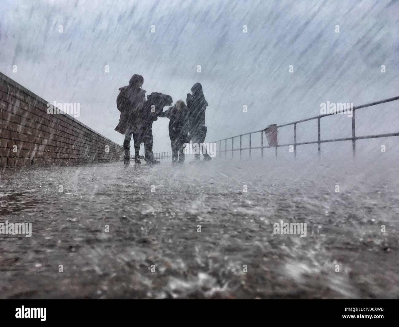 Teignmouth, Devon. 12th Oct 2018. UK Weather: Storm Callum. Soaked at Teignmouth Credit: nidpor/StockimoNews/Alamy Live News - Stock Image