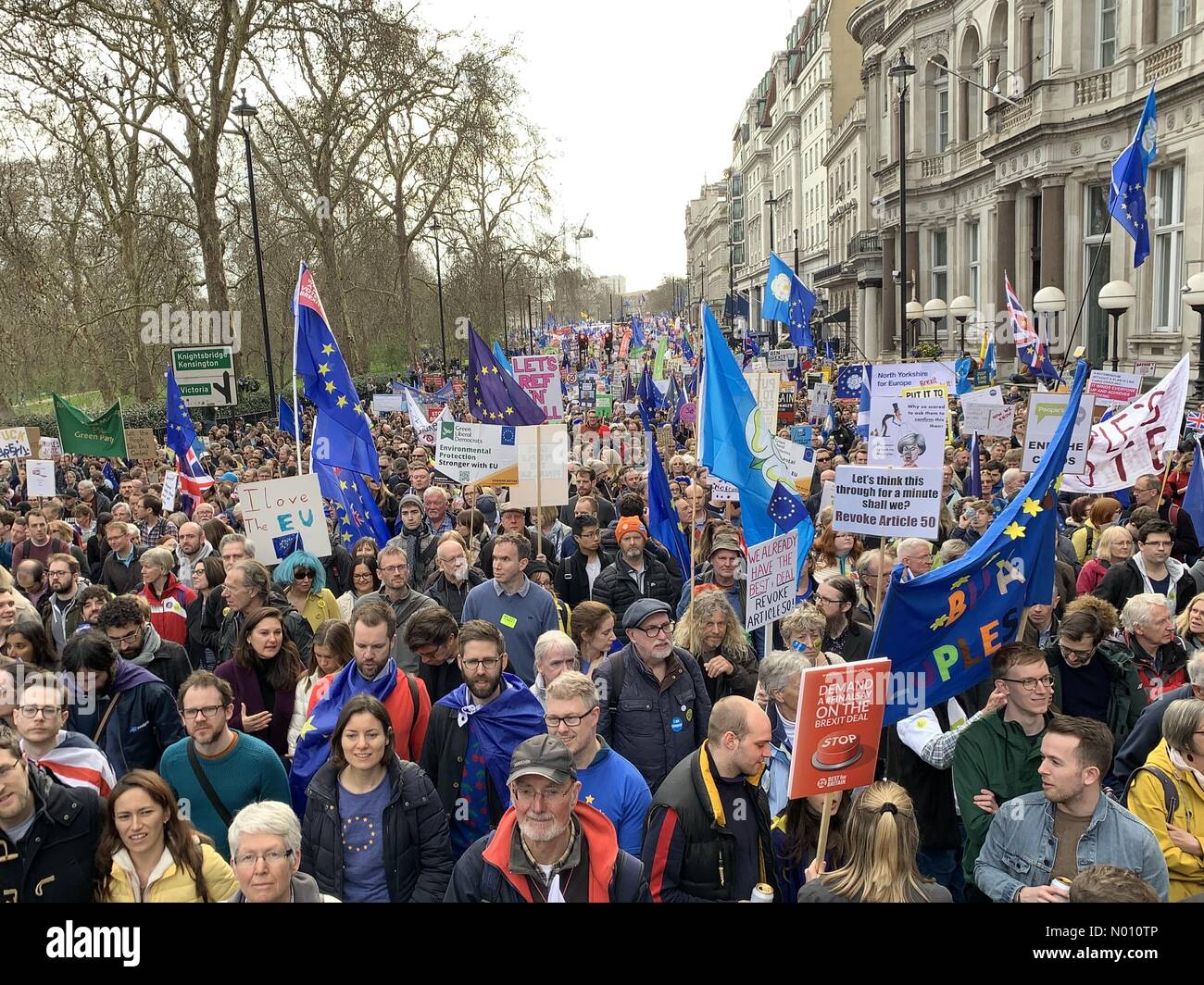 People's Vote March, London, UK, 23 March 2019 Stock Photo