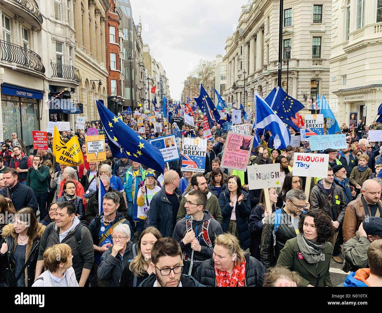 People's Vote March, London, UK, 23 March 2019 - Stock Image