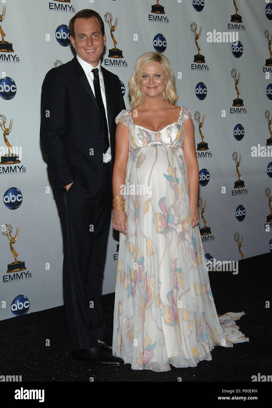 Amy Poehler And Will Arnett 60th Annual Emmys Awards At The Nokia