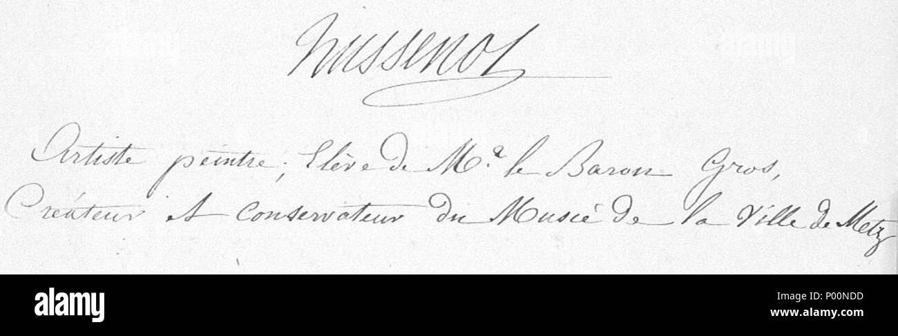 Français : Signature d\'Auguste Hussenot, artiste peintre, créateur ...