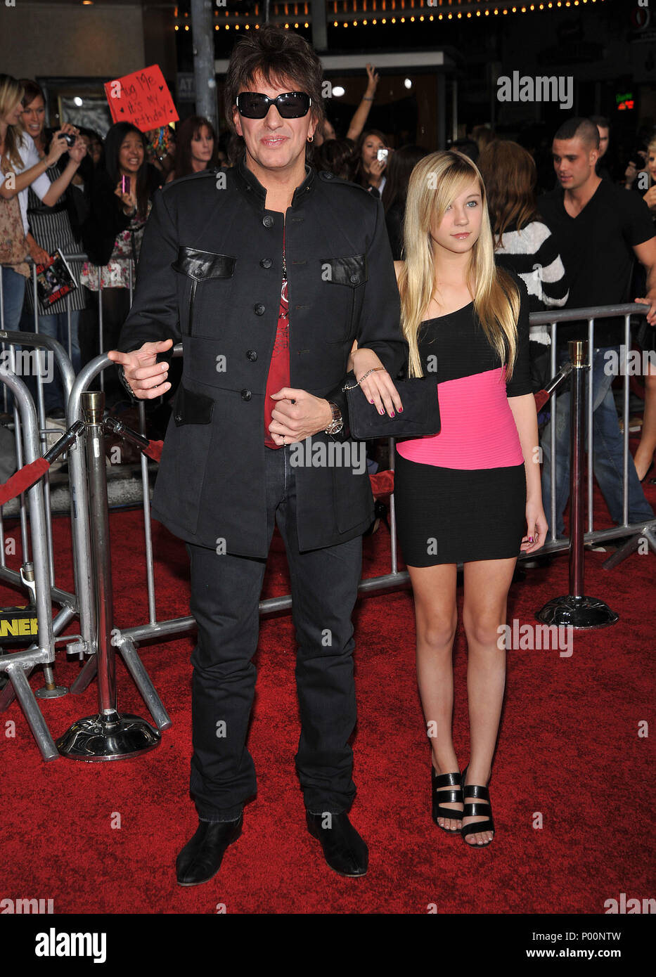 Richie Sambora and daughter   - THE TWILIGHT SAGA NEW MOON Premiere at the Westwood Village Theatre In Los Angeles.SamboraRichie_daughter_169  Event in Hollywood Life - California, Red Carpet Event, USA, Film Industry, Celebrities, Photography, Bestof, Arts Culture and Entertainment, Celebrities fashion, Best of, Hollywood Life, Event in Hollywood Life - California, Red Carpet and backstage, Music celebrities, Topix, Couple, family ( husband and wife ) and kids- Children, brothers and sisters inquiry tsuni@Gamma-USA.com, Credit Tsuni / USA, 2006 to 2009 - Stock Image