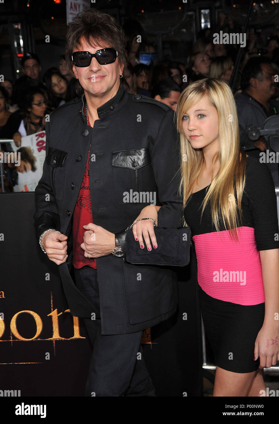 Richie Sambora and daughter   - THE TWILIGHT SAGA NEW MOON Premiere at the Westwood Village Theatre In Los Angeles.SamboraRichie_daughter_170  Event in Hollywood Life - California, Red Carpet Event, USA, Film Industry, Celebrities, Photography, Bestof, Arts Culture and Entertainment, Celebrities fashion, Best of, Hollywood Life, Event in Hollywood Life - California, Red Carpet and backstage, Music celebrities, Topix, Couple, family ( husband and wife ) and kids- Children, brothers and sisters inquiry tsuni@Gamma-USA.com, Credit Tsuni / USA, 2006 to 2009 - Stock Image