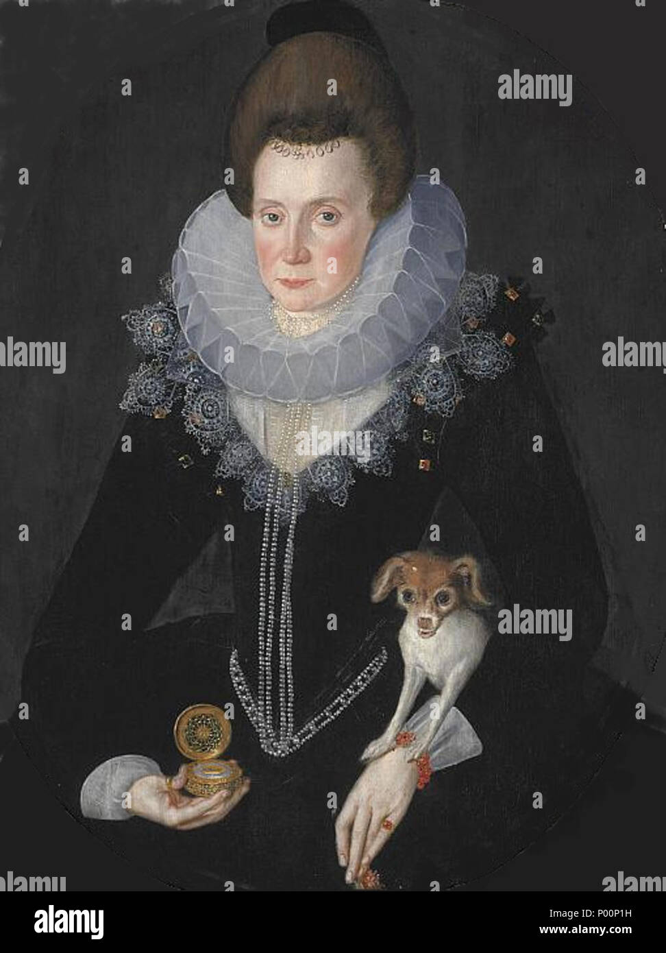 . Lady Arabella Stuart, also known as Arbella. She was at one time considered heir to the English and Scottish thrones, though she did not aspire to them. She died of self-inflicted starvation in the Tower of London, in 1615. Contrary to the title given by the Scottish National Galleries, her father was either the 5th earl of Lennox, or the 1st earl of Lennox of the 3rd creation.  . Lady Arbella Stuart. Ca. 1577 - 1615. Only daughter of the 6th Earl of Lennox. 1605 16 Lady Arabella Stuart - Stock Image