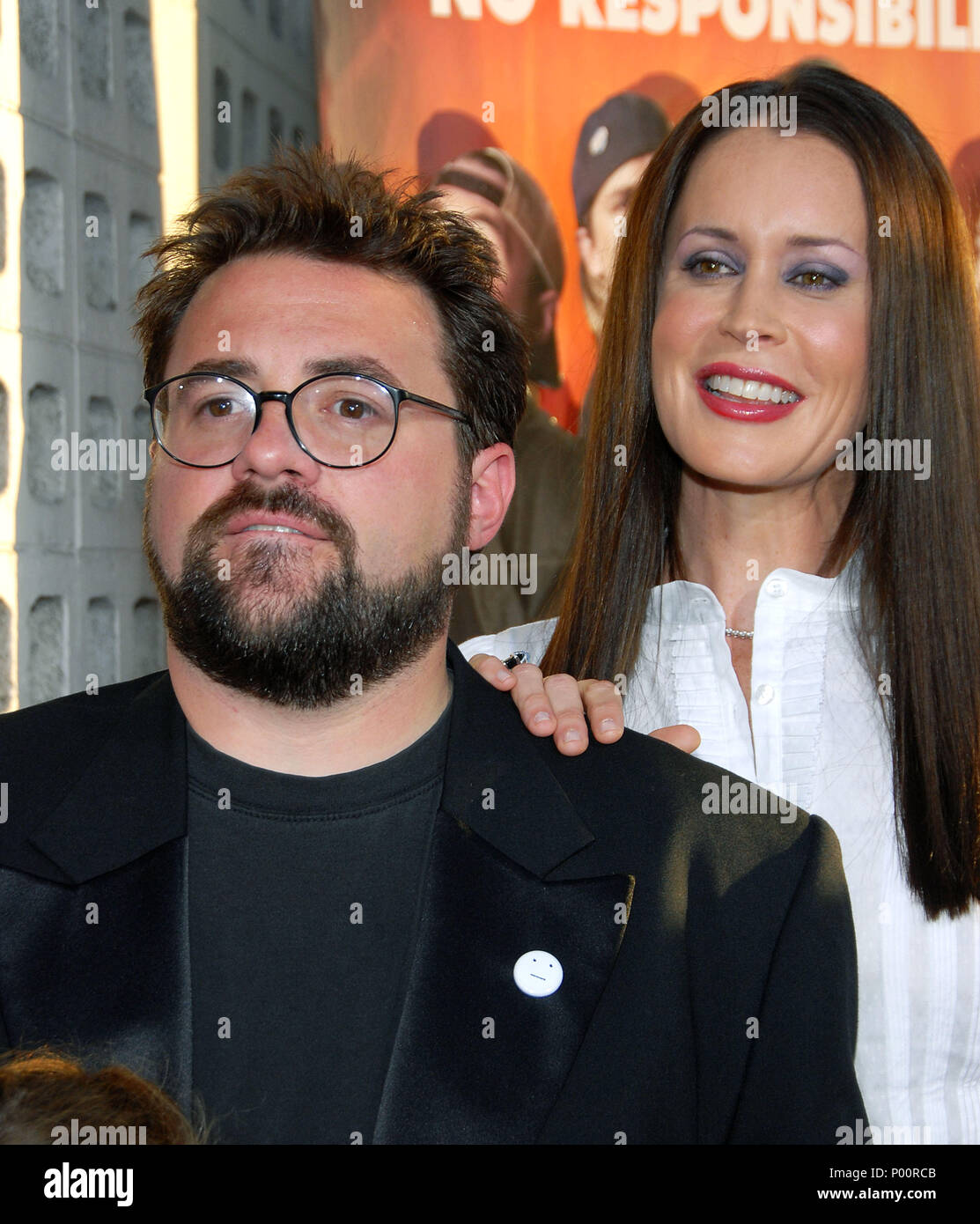 Kevin Smith And Wife Jennifer Schwalbach Smith Stock