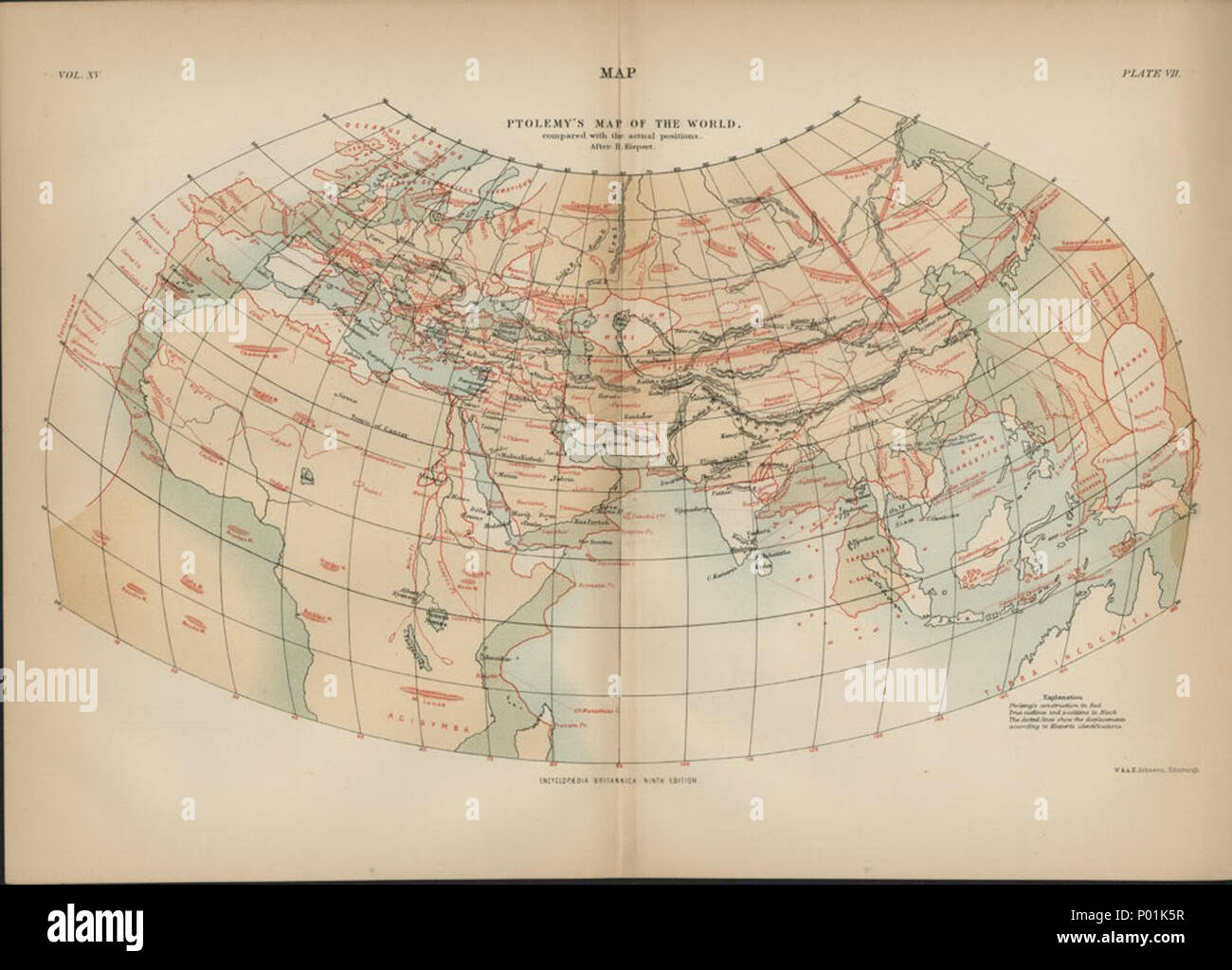 English A World Map On Ptolemy S Second Projection With The
