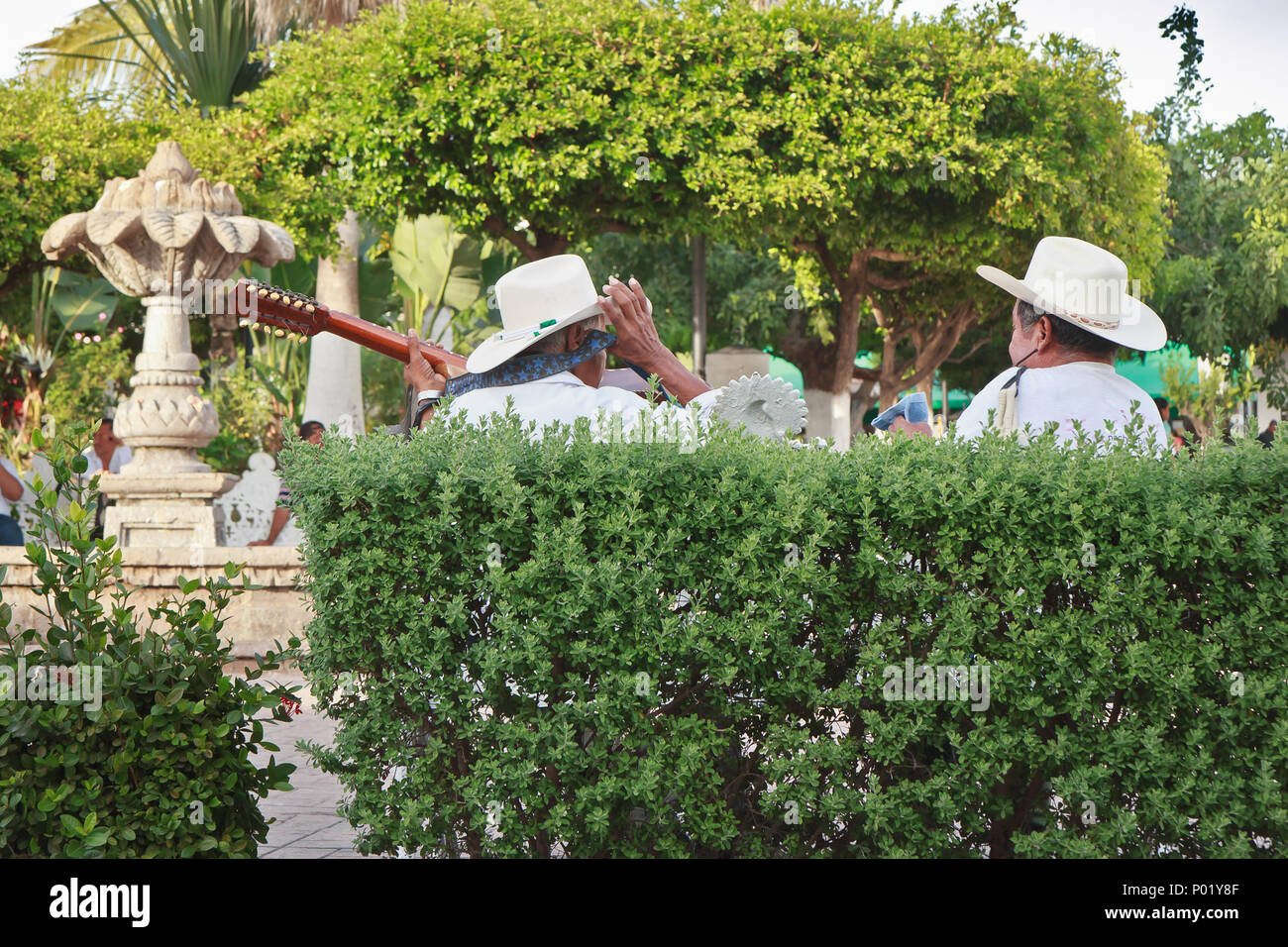 Mariachi in Comala, Mexico - Stock Image