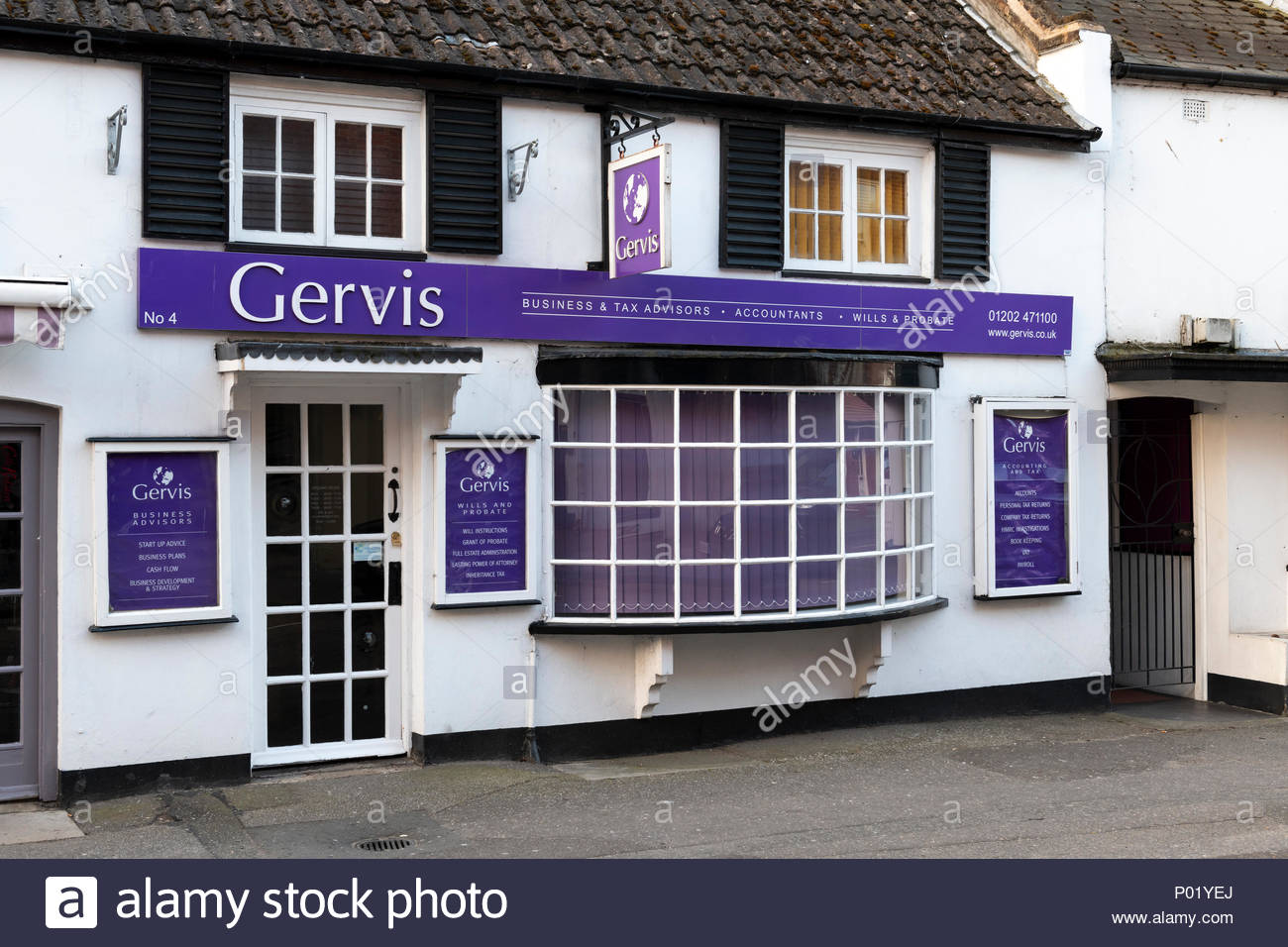 Gervis accountants, Wick Lane, Christchurch, Dorset, England, UK - Stock Image