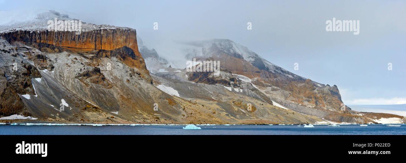 Gletscher und schneebeckte Berge, Suedgeorgien | Glacier and snow covered mountains, South Georgia Island, Sub Antarctica Stock Photo
