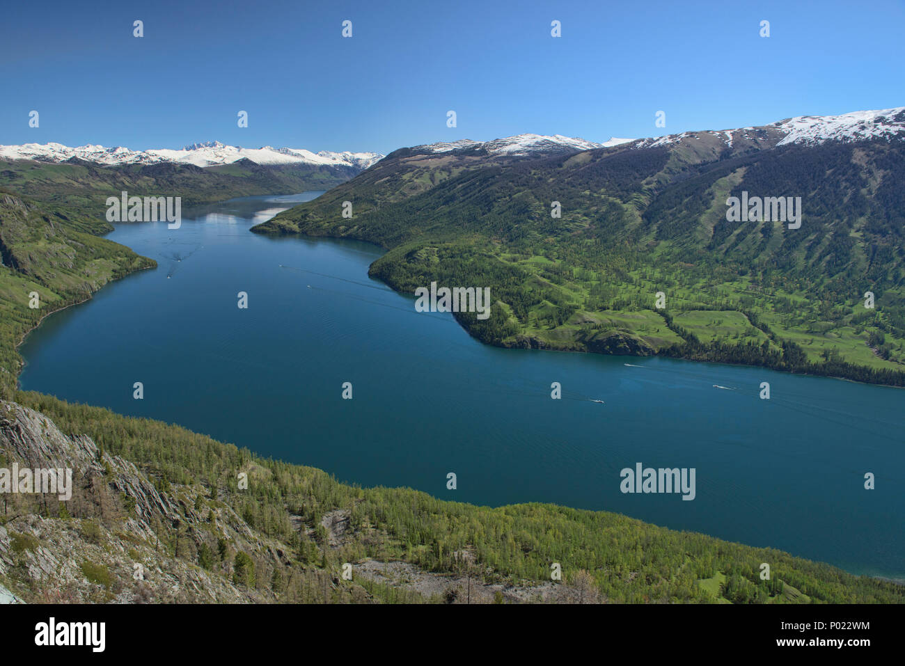 Pristine Kanas Lake National Park, Xinjiang, China - Stock Image