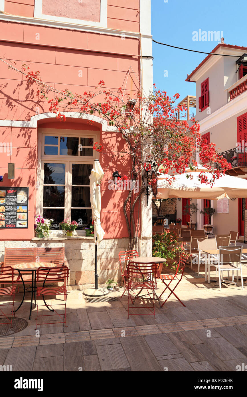 Pension Omorfi Poli, Nafplio, Greece - Stock Image
