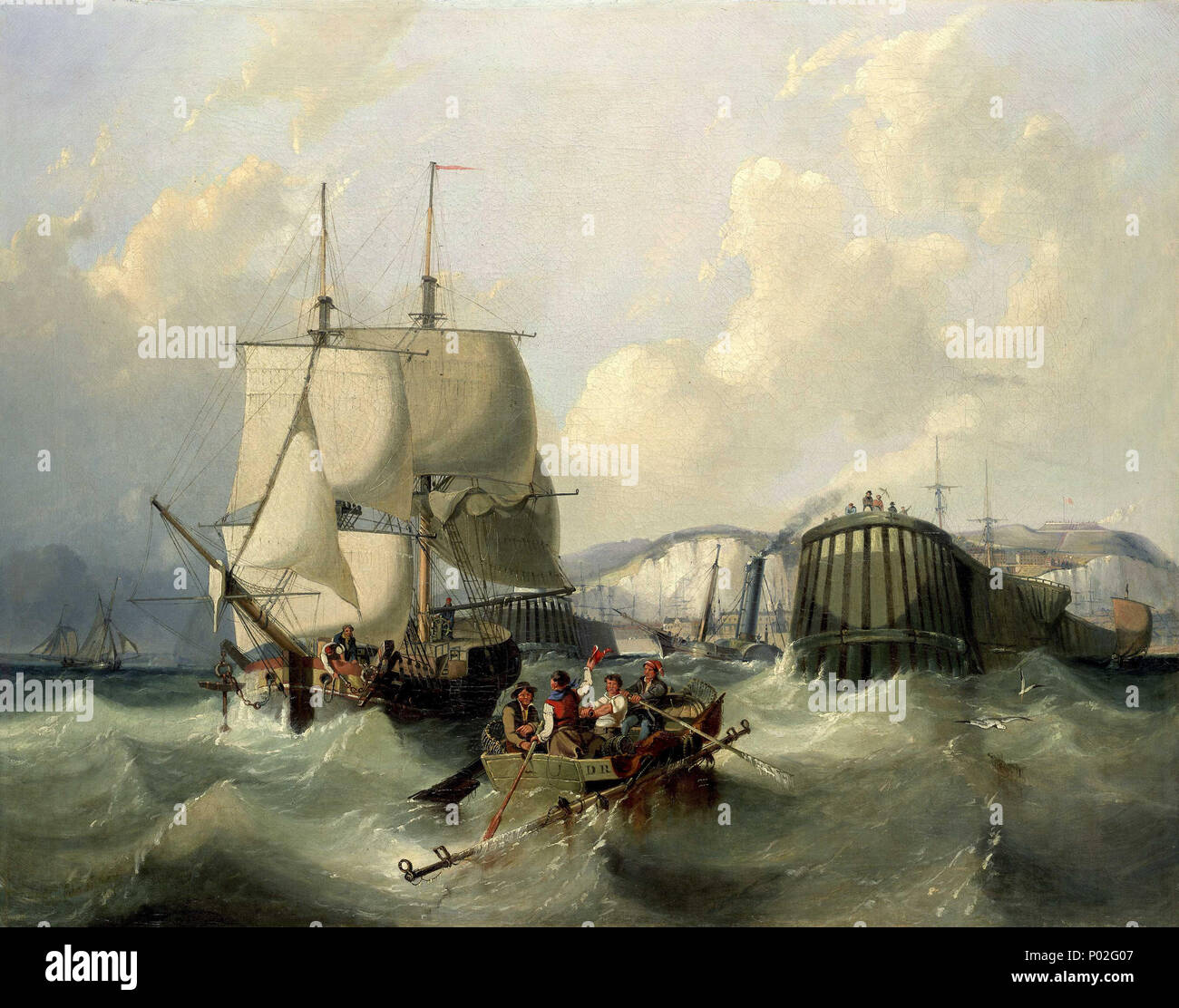 English a brig leaving dover this painting shows a view of dover english a brig leaving dover this painting shows a view of dover from the sea with a brig sailing out towards the viewer a fishing boat is making its m4hsunfo