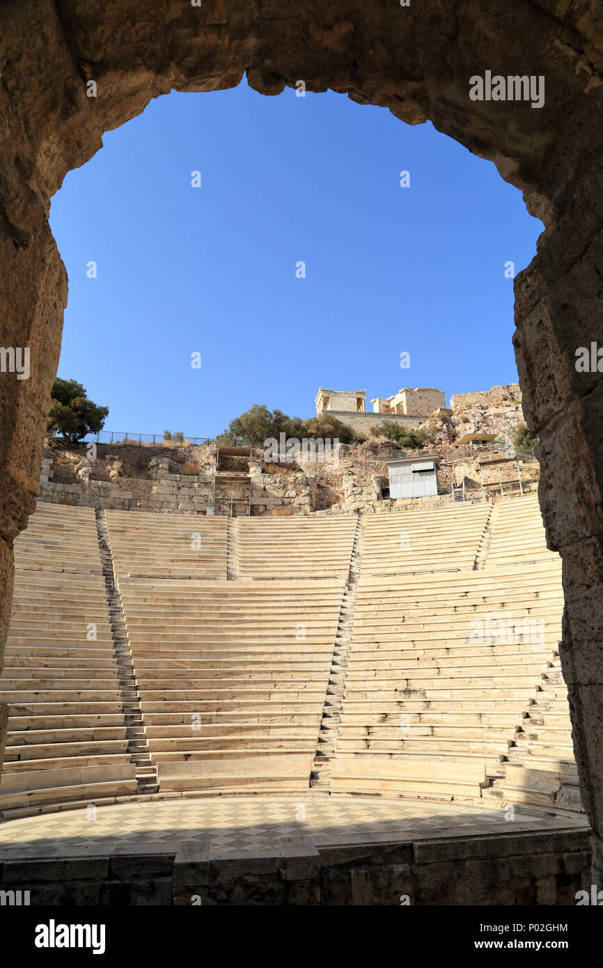 Odeon of Herodes Atticus - Stock Image