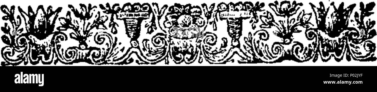 . English: Fleuron from book: A collection of chirurgical tracts. I. Of wounds of the head and brain. II. New discoveries relating to the cure of cancers. III. Chirurgical Remarks on several curious Cases. IV. The History and Antiquity of the Venereal Disease. V. A New Method of curing Consumptions by Specific Medicines. Written and collected by William Beckett, Surgeon and F. R. S. 40 A collection of chirurgical tracts Fleuron T114928-5 Stock Photo