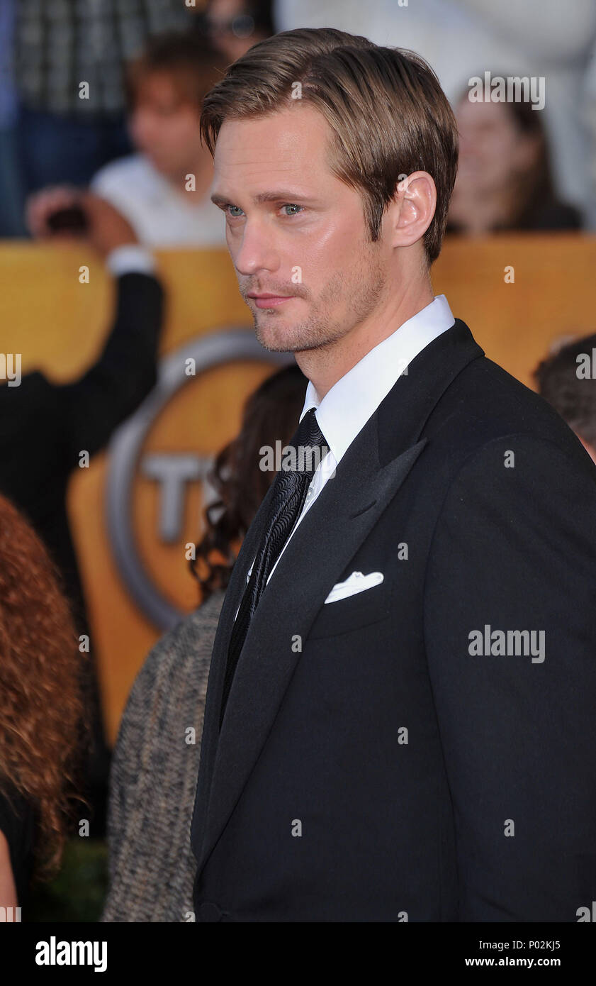 Alexander Skarsgard _706   - 16 th Annual Screen Actors Guild Awards at the Shrine Auditorium in Los Angeles.Alexander Skarsgard _706 Red Carpet Event, Vertical, USA, Film Industry, Celebrities,  Photography, Bestof, Arts Culture and Entertainment, Topix Celebrities fashion /  Vertical, Best of, Event in Hollywood Life - California,  Red Carpet and backstage, USA, Film Industry, Celebrities,  movie celebrities, TV celebrities, Music celebrities, Photography, Bestof, Arts Culture and Entertainment,  Topix, vertical, one person,, from the year , 2010, inquiry tsuni@Gamma-USA.com - Three Quarters - Stock Image
