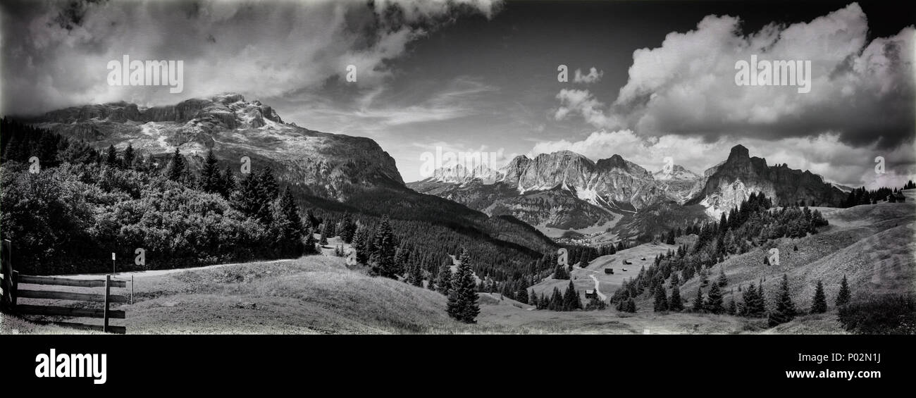 view of the mount of Alta Badia  - Italy - Stock Image
